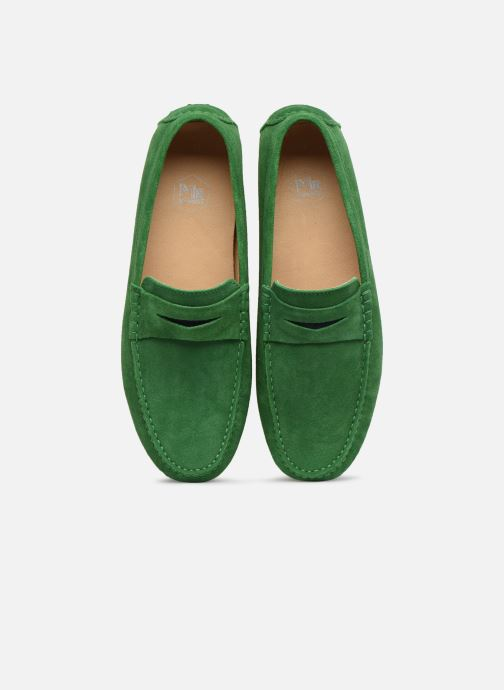 Mocasines Mr SARENZA Suttini Verde vista del modelo